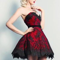 LE ROUGE LACE GIGI DRESS W BELT