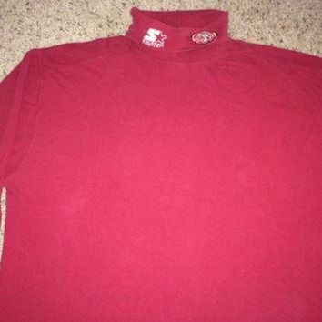 LMFON Sale!! Vintage Starter SF 49ers long sleeve sweatshirt NFL Pro Line Sweater Football J