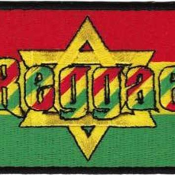 Rasta Iron-On Patch Reggae Star Of Judah Logo