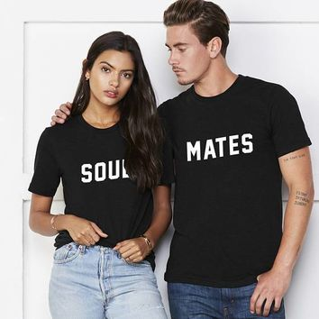 21374d4ef0 Soulmates Couple Shirts funny matching Top Tee cotton anniversary gift. 1pc