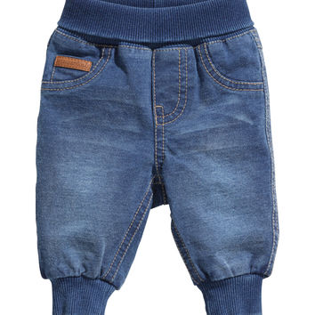 H&M - Pull-on Pants - Dark denim blue - Kids