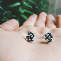 Small seeds grow big - succulent bloom earrings in sterling silver