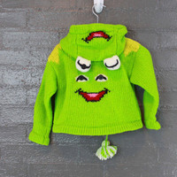 Vintage Kermit the Frog Childrens Sweater