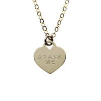 Spank Me Heart Necklace