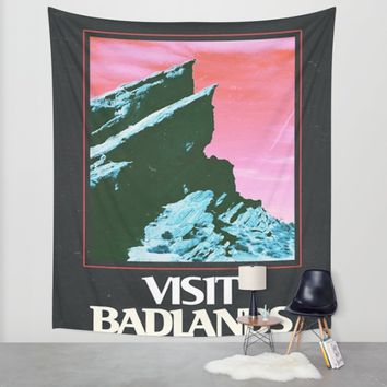 BADLANDS POSTER // HALSEY Wall Tapestry by Grlpower | Society6