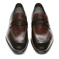 ADNEY BURNISHED BRAIDED-BAND LOAFER