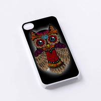 owl skull iPhone 4/4S, 5/5S, 5C,6,6plus,and Samsung s3,s4,s5,s6