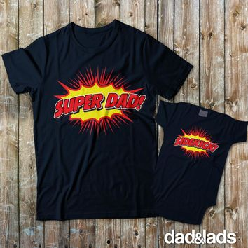 Super Dad and Sidekick Dad and Me Shirts