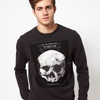 ASOS Sweatshirt With Skull Print at asos.com