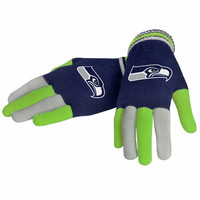 Seattle Seahawks Forever Collectibles Multi Colored Knit Gloves Ladies One Size