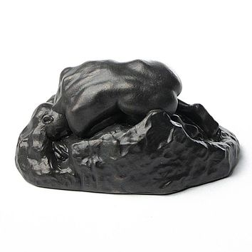 La Danaide Nude Curled on a Rock Statue by Rodin Bronze Finish 5.5L