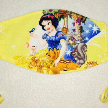 Adjustable CHILD Medical Face Mask: Snow White