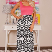 Can You Keep a Secret Maxi Dress - Coral