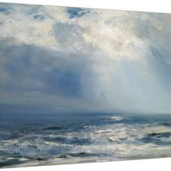 A Sunbeam over the Sea, 1890 (Oil on Panel) Stretched Canvas Print by Henry Moore at Art.com