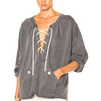 The Great Rope Pullover Sweatshirt in Charcoal Heather Grey | FWRD