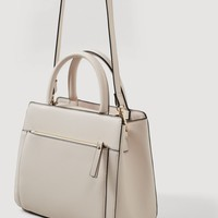 Saffiano-effect tote bag - Women | MANGO USA