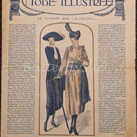 "Art Deco French Fashion Magazine - ""La Mode Illustrée   "" Fall 1920"