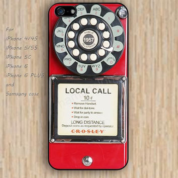 iPhone 5s 6 case red pay phone case iphone case,ipod case,samsung galaxy case available plastic rubber case waterproof B231