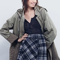 Free People Womens Zip It Plaid Mini