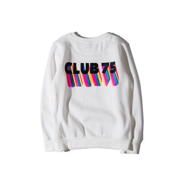 CLUB 75 Rainbow Cotton Sweatshirt [9506643143]