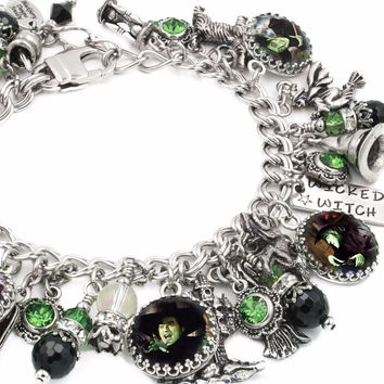 Wicked Witch Wizard of OZ charm bracelet