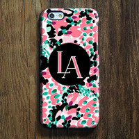 Abstract Color Monogram iPhone 6s Case iPhone 6 plus Case Custom Initials iPhone 5S Case iPhone 5C Case iPhone 4S/4 Case Galaxy S6 Case 106