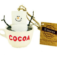 Christmas Ornament - Hot Cocoa Cup With S'more Character Inside
