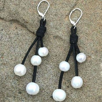 4 Cluster Pearl Earrings