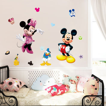 classical mouse cartoon Wall Stickers for kids room decorations movie wall art removable pvc comic animal decals zooyoo1437 SM6