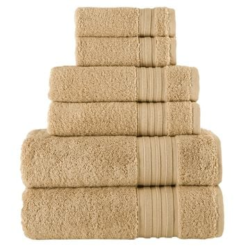 Camel Turkish Spa Collection 6-pc Cotton Towel Set