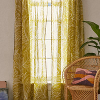 Plum & Bow Edna Palm Curtain - Urban Outfitters