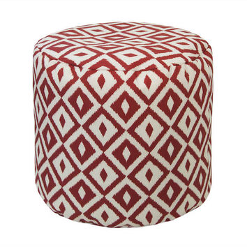 Aztec Outdoor Ottoman/Pouf | More Colors Available
