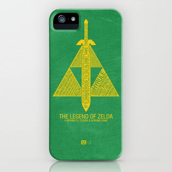 The Legend of Zelda Typography iPhone & iPod Case by Kody Christian