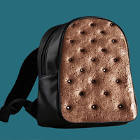 Ice Cream Sandwich for Backpack / Custom Bag / School Bag / Children Bag / Custom School Bag *