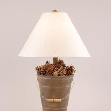 Pinecone Bucket Table Lamp