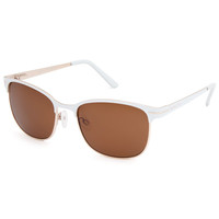 Suncloud Causeway Polarized Sunglasses White/Brown Polarized One Size For Men 25072716701