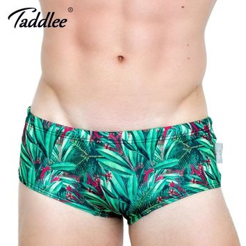 Taddlee Brand Sexy Men's Swimwear Basic Swim Boxer Briefs 3D Printed Bikini Men Swimsuits Gay Low Waist Surf Board Trunks Gay