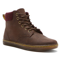 Dr. Martens Maelly Padded Collar Boot | Women's - Dk Brown/Oxblood/Blk Wyoming Micro Check - FREE SHIPPING at OnlineShoes.com