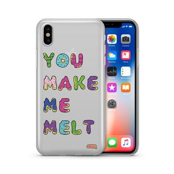 You Make Me Melt - Clear TPU Case Cover
