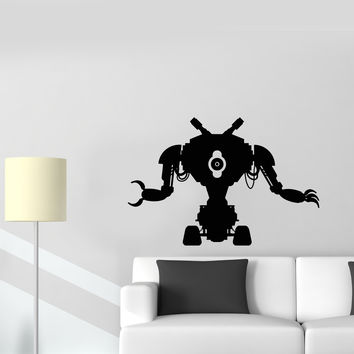 Wall Decal Robot Toy Machine Engineering Electronics Mechanics Vinyl Sticker Unique Gift (ed631)