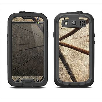 The Cracked Wooden Stump Samsung Galaxy S3 LifeProof Fre Case Skin Set