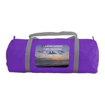 Cinch Quote by Kat Worth Duffle Bag