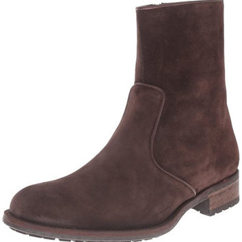 Magnanni Brown Suede Zipper Men's Boots
