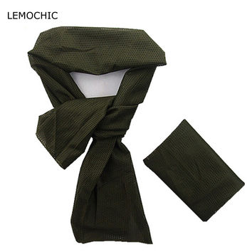 LEMOCHIC motorcycle trekking cycling camping hunting sport headband sniper tactical military training mask mesh military scarf