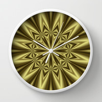 Gold Nugget Wall Clock by Eric Rasmussen