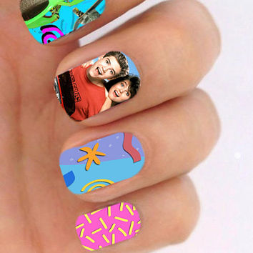 Saved by the Bell 80s Television Show  - Nail Art - Nail Decals