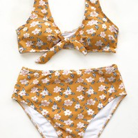Cupshe Little Daisy High-waisted Bikini Set