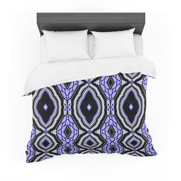 """Dawid Roc """"Inspired By Psychedelic Art 3"""" Purple Abstract Featherweight Duvet Cover"""