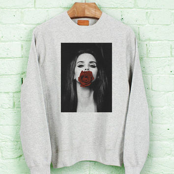 lana del rey red rose for Sweater/Sweatshirt
