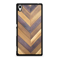 Wooden Chevron Sony Xperia Z4 case